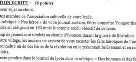 بكالوريا 2013 – اختبار اللغة الفرنسية شعبة لغات أجنبية